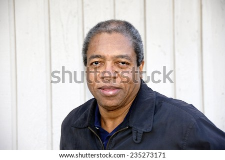 African american male expressions outside. - stock photo