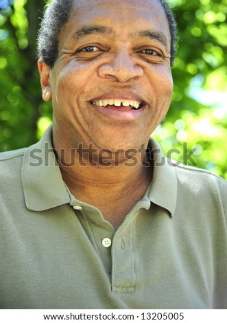 African american male feeling joy and happiness. - stock photo
