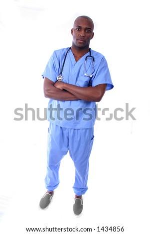 African American Male Nurse - stock photo