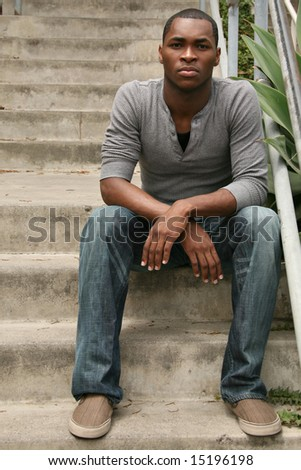 African American Male Portrait - stock photo