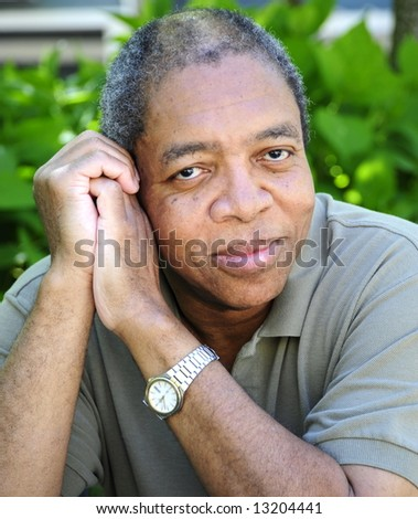 African american male relaxing at home. - stock photo