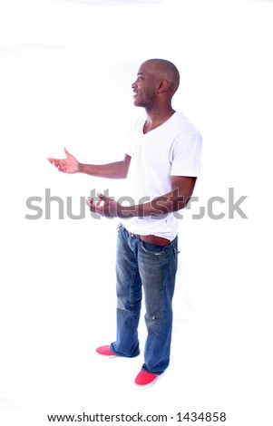 African American man in Casual Clothes - stock photo