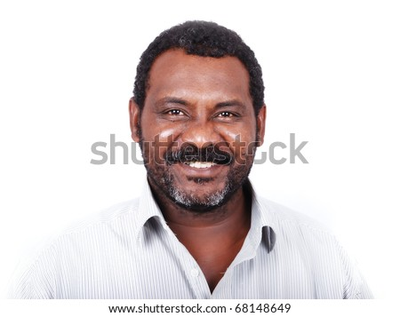 African American man portrait - stock photo