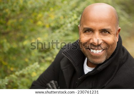African American Man Smiling - stock photo