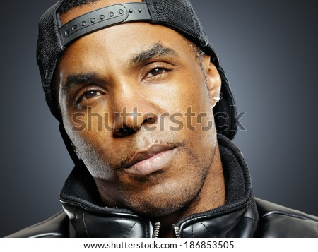 african american man with urban look portrait - stock photo