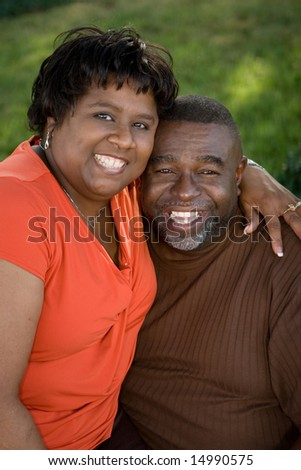 African American middle age couple