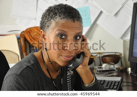 African American Professional Looking at you - stock photo