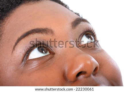 African American Woman Eyes Extreme Closeup