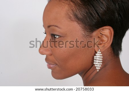african american woman in a reflective and thoughtful mood - stock photo