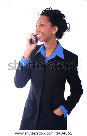 African American Woman on Phone - stock photo