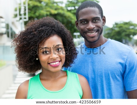 African american woman with husband