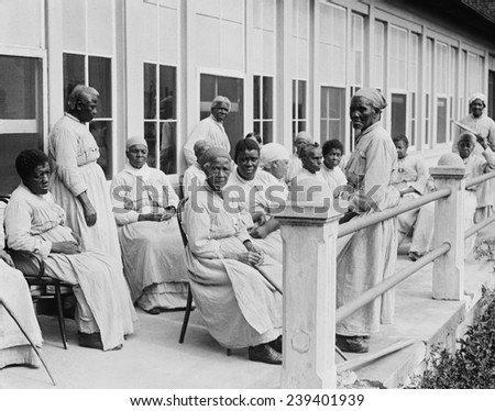 African American women, former slaves, photographed in 1920's in vicinity of Washington, D.C. - stock photo