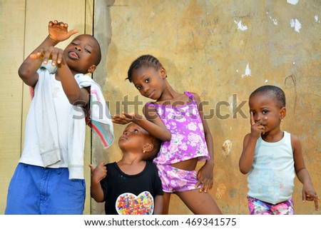 AFRICAN - 15 AUGUST 2016: Young vibrant african children comes out for a portrait session on 15 AUGUST 2016.