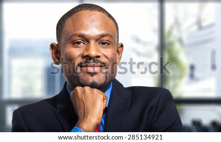 African business man - stock photo