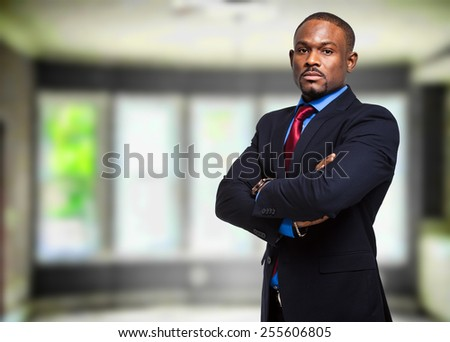 African business man in his office - stock photo