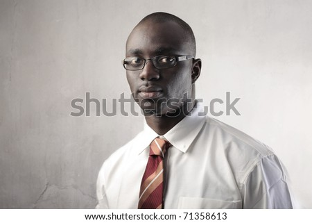 African businessman - stock photo