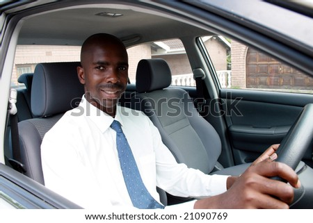 african businessman driver - stock photo