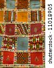 african carpet background detail in a street of morroco - stock photo