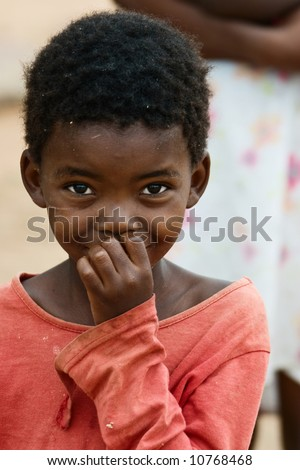 African children, social issues, poverty - stock photo