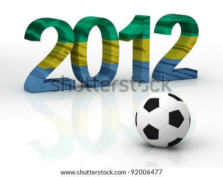 african cup 2012 in GABON - AFRICA - stock photo