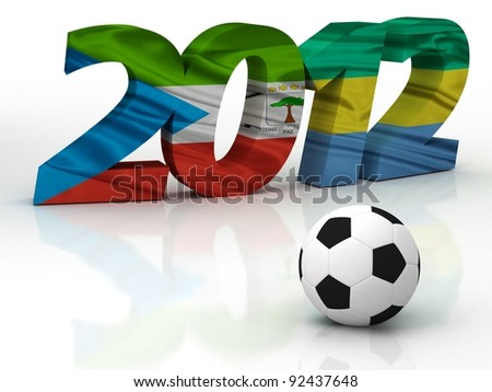 african cup 2012 in GABON  AND EQUATORIAL GUINEA- AFRICA - stock photo