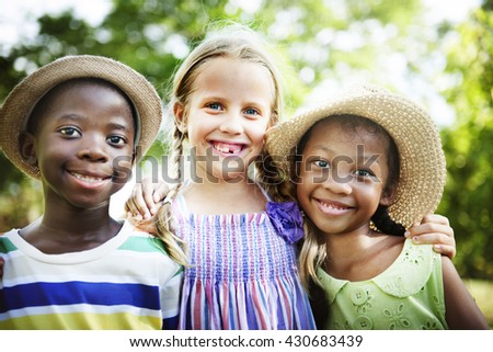 African Descent Kids Child Happiness Offspring Concept - stock photo