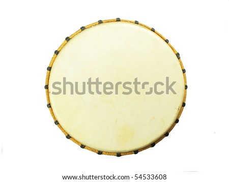 African djembe, top view - stock photo