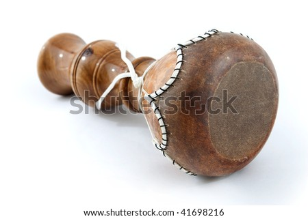 african drum on the white background