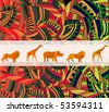 African ethnic background with traditional animal - stock photo