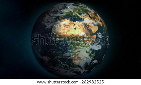 African Globe (Elements of this image furnished by NASA)