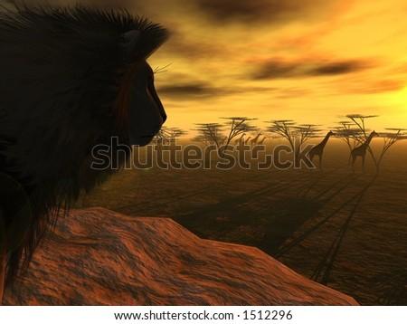 African Hunter - stock photo