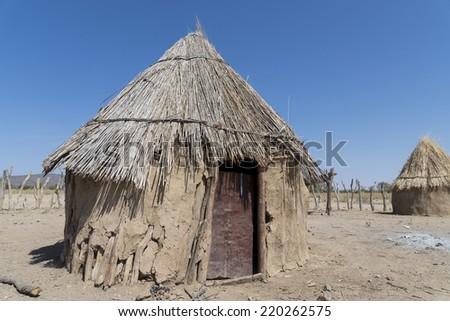 African hut - stock photo