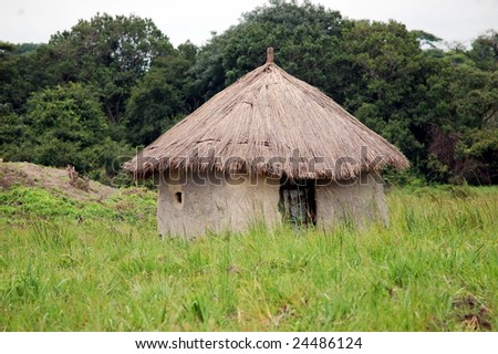 African Hut - stock photo
