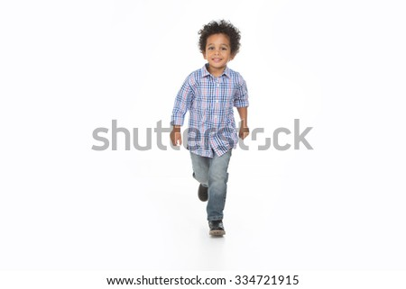 african kid smile and posing on a isolated background - stock photo
