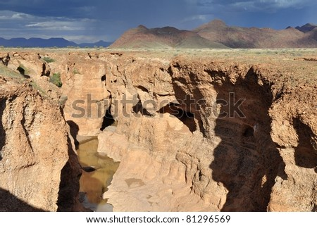 african landscape before storm - stock photo