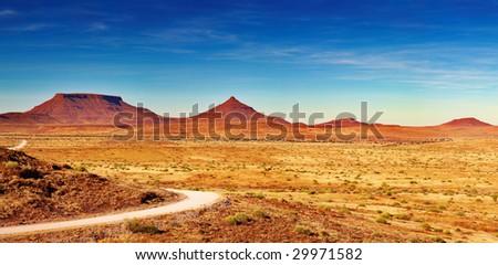 African landscape, Damaraland, Namibia - stock photo