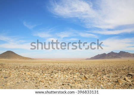 African landscape in the desert - stock photo