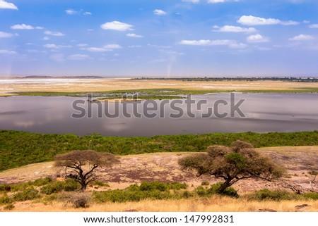 African landscape, Kenya - stock photo