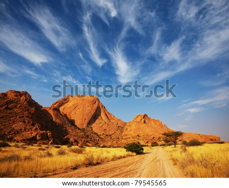 african landscapes - stock photo
