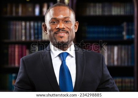 African lawyer in his studio - stock photo