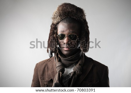 African man in fashion clothes - stock photo