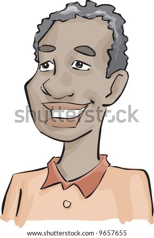 african man with a great smile - stock photo