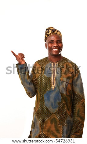 African man working - stock photo