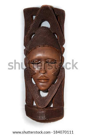 african mask - stock photo