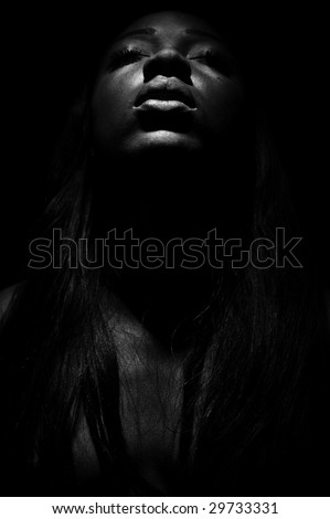 African model, photogrphered in studio and outside. - stock photo
