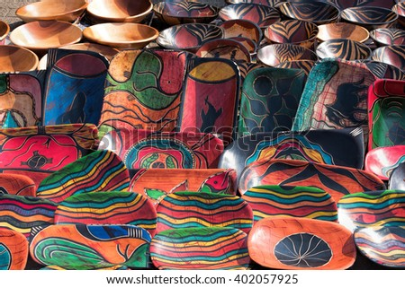 African painted cups
