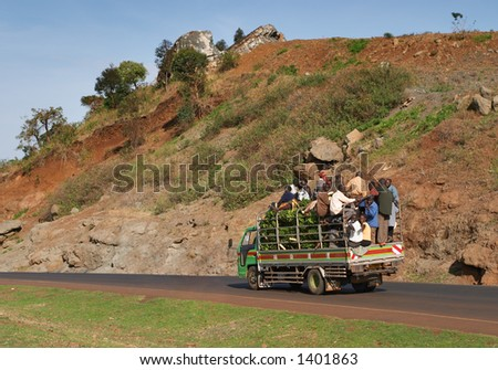 African road traffic - stock photo