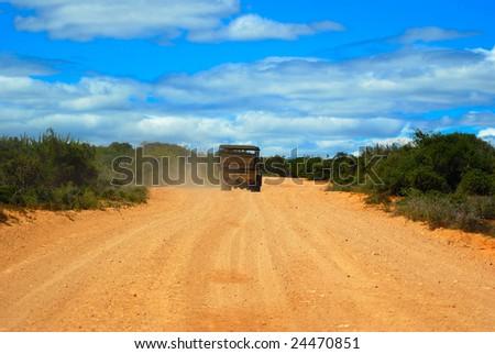 African safari tour - stock photo