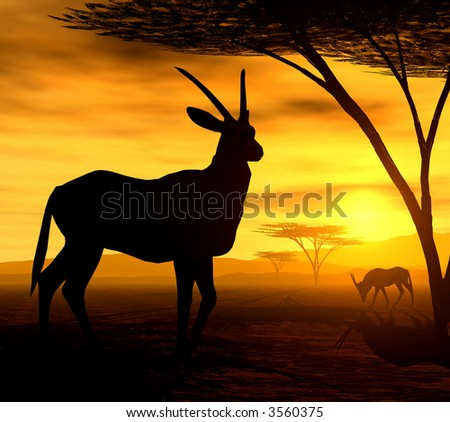 African Spirit - The Antelope - stock photo