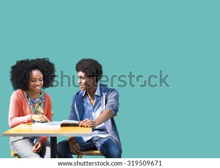African Students Studying Learning Education - stock photo